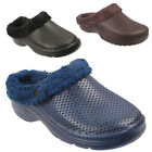 New Mens Winter Fur Lined Casual Slip On Warm Furry Sandals Clogs Slippers Sizes