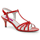 Red Sandals Low Heels Trans Drag Mens Crossdresser Shoes size 14 15 16 Womans