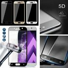 5D Edge Full Curved Tempered Glass LCD Screen Protector Film For Samsung Galaxy