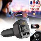 Bluetooth Car Kit Wireless FM Transmitter Dual USB Charger Audio MP3 Player US