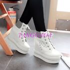 Rhinestones Sexy Womens Ankle Boots Creeper Lace-up Hidden Heel Platform Shoes