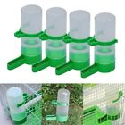 US 4pcs Bird Pet Water Drinker Food Feeder Waterer Clip Lovebirds Aviary Budgie