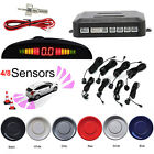 Car Reverse Parking Sensor Rear 4/8 Sendors Audio Buzzer Alarm Kit Silver Black