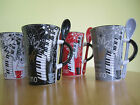PIANO/KEYBOARD DESIGN COFFEE MUG with matching spoon - Ideal Gift