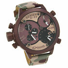 Welder by U Boat Triple Time Zone Chronograph Camouflage Mens Watch K29 8005