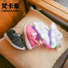 Kids Breathable Mesh Sneakers Casual Light Up Shoes for Boys Girls  Hook Laces