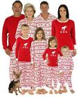 XMAS Kids Baby Adult Family Pajamas Set Santa Sleepwear Nightwear Pyjamas Plus
