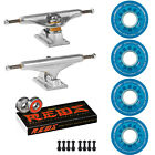 Independent Trucks Ricta SKATEBOARD 78a Crystals Clouds Wheels PACKAGE Reds