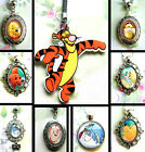 WINNIE THE POOH CHARM NECKLACE KEYRING LOCKET TIGGER EEYORE ROO RABBIT KANGA