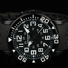 INFANTRY INFILTRATOR Mens Quartz Wrist Watch Military Black Rubber Band Fashion