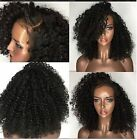 Afro Kinky Curly Pre 360 Lace Frontal Wigs 100% Remy Brazilian Hair Density 180%
