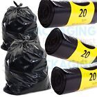Black Bin Bags Rolls Refuse Sacks Rubbish Liners Bin Bags 18x29x34