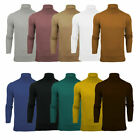 Mens Brave Soul 'Hume' Roll Neck Polo Light Cotton Knitwear Jumper Sweater