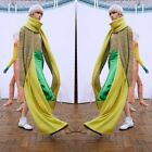 ACNE STUDIOS VIA S 2 FACE SCARF Lookbook NEW  TWO TONE grey melange/yellow fire