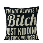 Retro Funny Words Thema Throw Kissenbezüge Pillow Case Sofa Home Decor