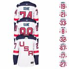 USA NHL Adidas Premier World Cup Of Hockey White Player Jersey Collection Mens