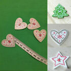25PCs Wooden Buttons Mixed Star Xmas Heart Pattern 2-hole Sewing DIY