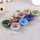 Ice-Crack Glaze Flower Ceramics Succulent Plant Mini Pot Garden Flowerpot