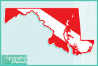 MARYLAND Shaped DIVE Flag Vinyl Decal Car Truck Sticker SCUBA Diving Decal