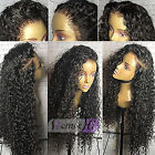 Glueless Curly Remy Virgin Human Hair Wigs Full Lace Front Wigs With Baby Hair