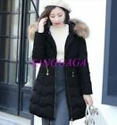 Vogue Womens Faux Fur Top Down Jacket Winter Padded Thick Slim Fit Puffer Coat