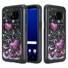 Samsung Galaxy S8 Plus Hybrid Hard Bling Diamond Case Skin Phone Cover Armor