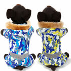 Dog Clothes Pet Camouflage Jacket Coat Hoodie Winter Warm Costumes Apparel