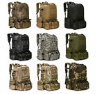 Sports 55L Outdoor Military Tactical Bag Camping Hiking Trekking Backpack Colors