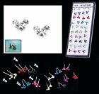 LAST FEW DISNEY EARRINGS MICKEY MOUSE STUDS PIERCED ACRYLIC CRYSTAL DAINTY 6MM
