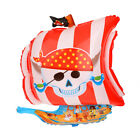Halloween Large Pirate Bat Boots Cat Aluminum Foil Balloon Party Decor Kids Toy