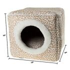 Cat Cave Hide Out Cube Bed 13 x 12 Removable Pillow Makes Cat Feel Safe Cubby