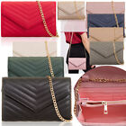 2 in 1 Women Small Clutch Purse Shoulder Bag Quilted Envelope Card Ladies Wallet