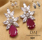 Simulated Cubic Zirconia Small Elegant Designer Earring Set 311 2E 01