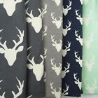 Art Gallery Buck Forest KNIT Jersey Fabric / dressmaking babygrow stag deer