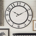 17 Stories Oversized Nynette Farmhouse Wall Clock