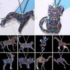 Fashion Dog Cat Animal Printing Pendant Necklace Women Jewelry Christmas Gift