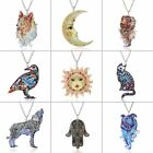 Boho Cat Bird Animal Printing Pendant Necklace Women Jewelry Mother's Day Gift