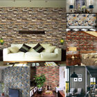 3D Wall Paper Brick Stone Rustic Effect Self-adhesive Wall Sticker Home Decor US $3.68 USD on eBay