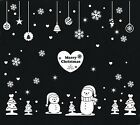 Christmas New year Snowman-3 wall/ window Vinyl sticker  NO OUTLINE removable