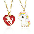 Cartoon Cute Rainbow Horse Unicorn Love Haert Design Necklaces Fashion Jewelry
