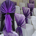 10~100pcs 65x275cm Organza Chair Covers Hood Sashes Wraps Bows Wedding Party Dec