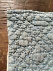 Early Antique Blue Calico Handmade Full Size Christmas Stocking Sock AAFA #2