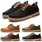 Mens Combat Dealer Lace Up Casual Round Toe Work Shoes UK 6-9.5