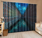 2 Panel 1110 Blockout 3D Curtain Window Curtains Photo Print Sunset street