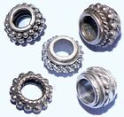 Large Hole Sterling Silver Spacer Beads from Bali .925 Choice of Designs
