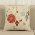 Best Home Decors For Sofa Cars - Christmas Cotton Cushion Throw Pillow Case Square Cover Review