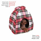 Pet Dog Cat Bed Puppy Lattice Cute Bowknot Warm Igloo Nest Kennels Removable Mat