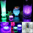1-40X INDOOR BATTERY REMOTE CONTROL SUBMERSIBLE GLOW VASE BASE LED LIGHTS UP
