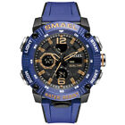 SKMEI Men Dual Time LED Military Date Chrono Waterproof Sport Quartz Wrist Watch