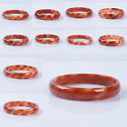 Red white agate smooth bangle bracelet 52.4-56.4mm